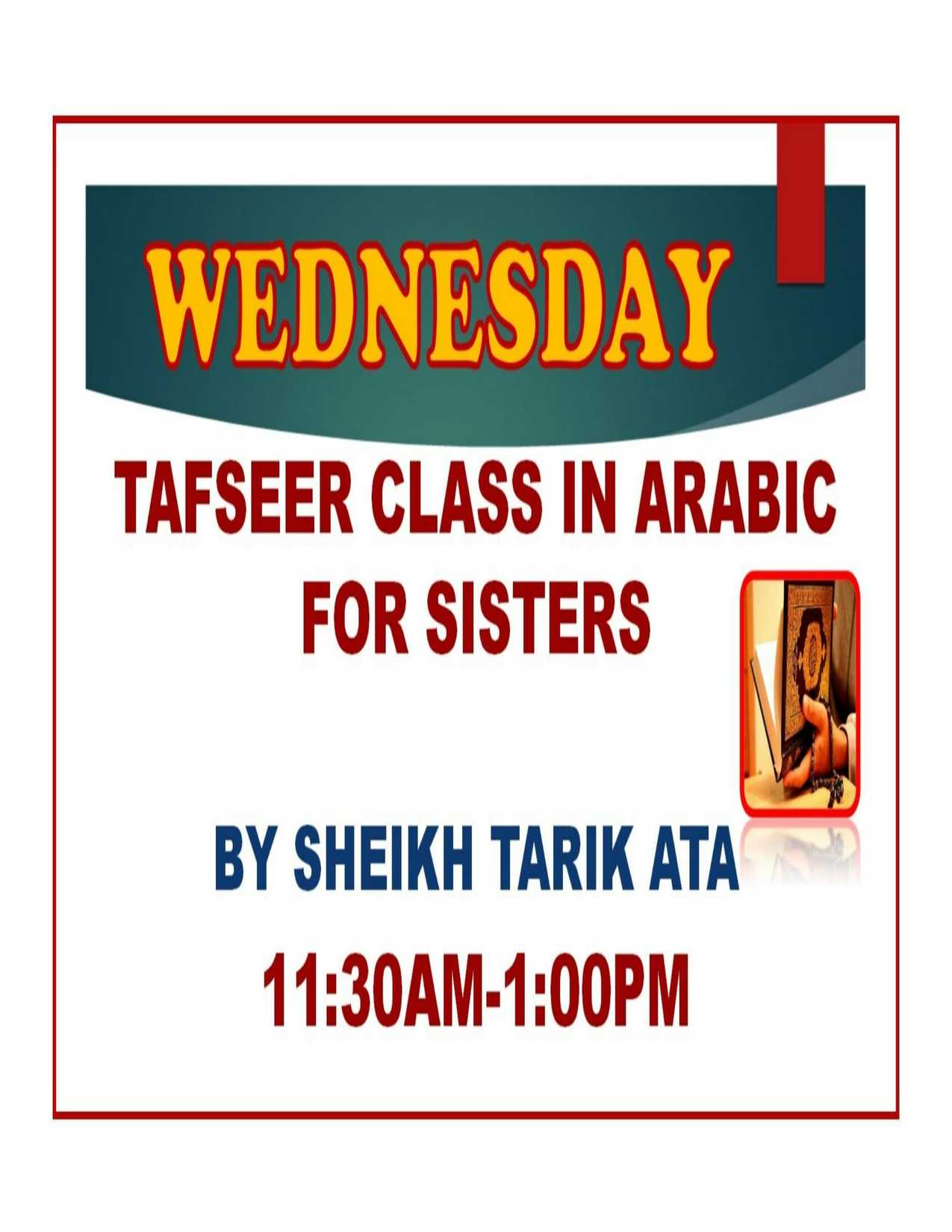 TAFSER CLASS IN ARABIC FOR SISTERS.jpg-1
