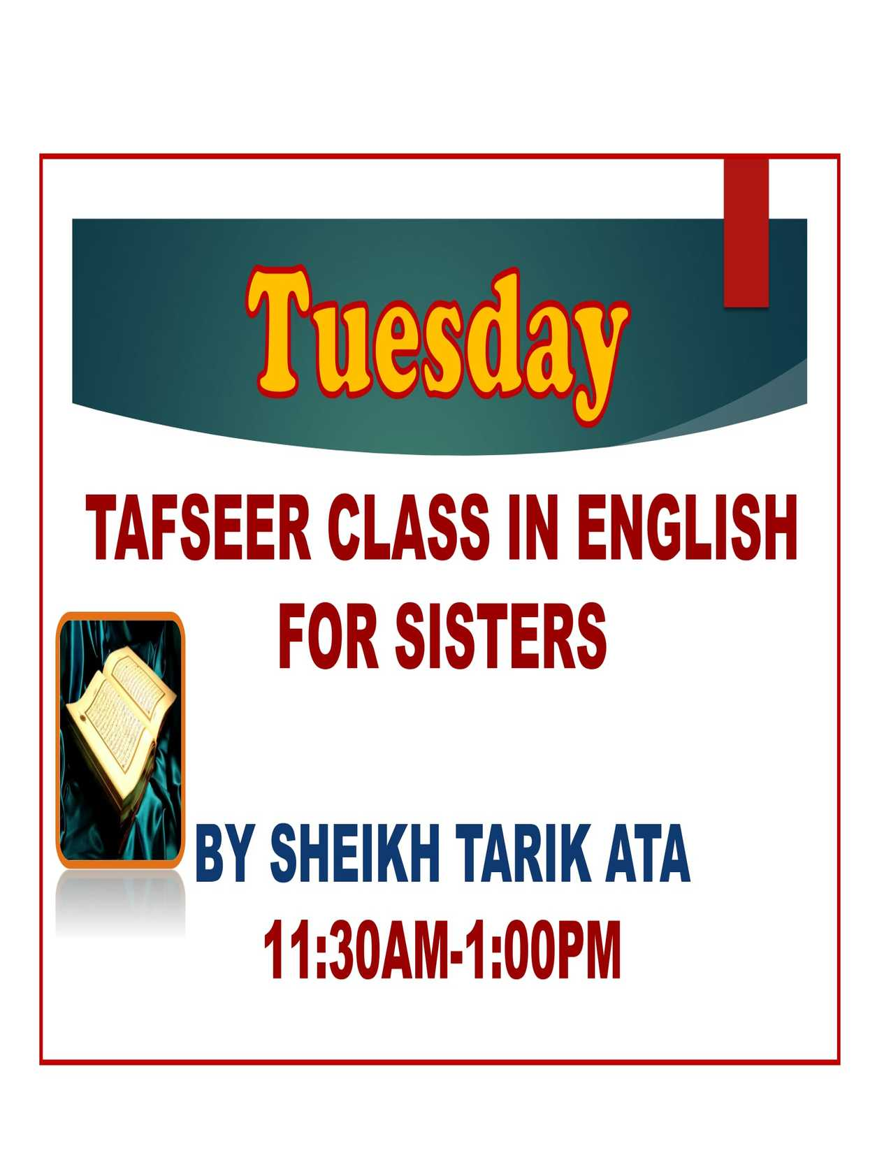 TAFSER CLASS IN ENGLISH FOR SISTERS-1